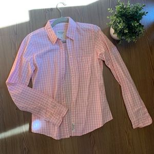Hollister Pink and White Checked Shirt